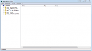 Registrierungseditor Windows 7
