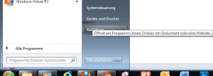 Start - Ausführen Windows 7